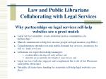 law and public librarians collaborating with legal services8