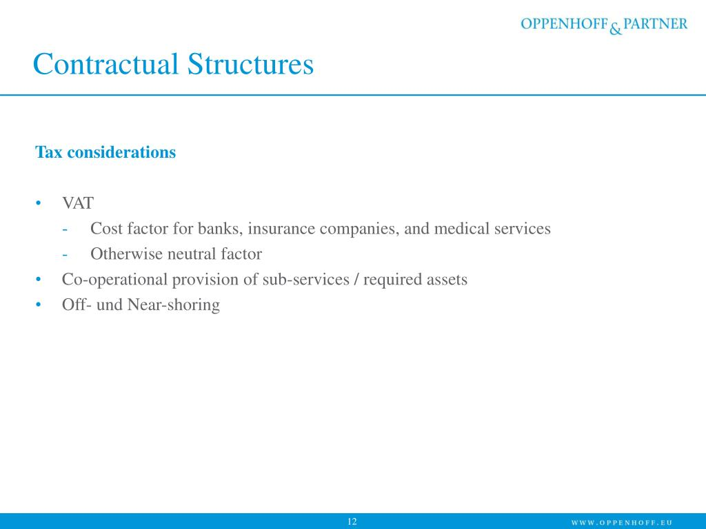 Contractual Structures
