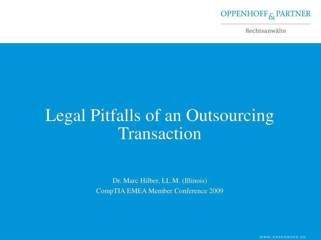 legal pitfalls of an outsourcing transaction l.