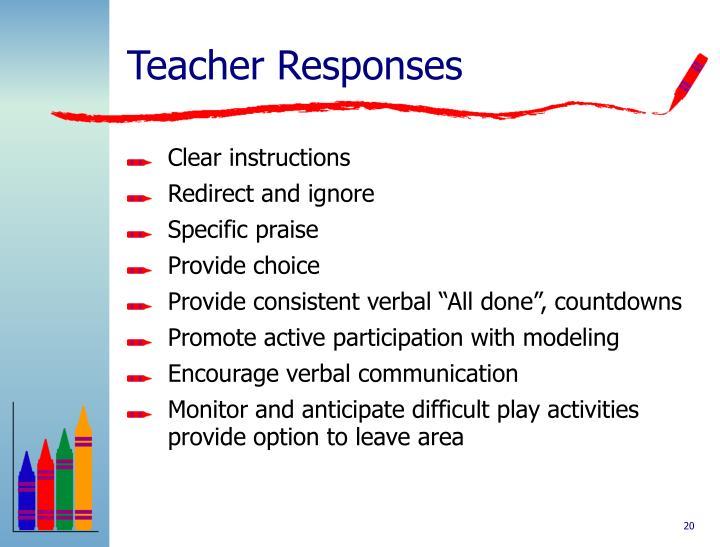 Teacher Responses