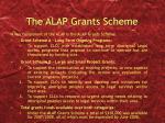 the alap grants scheme