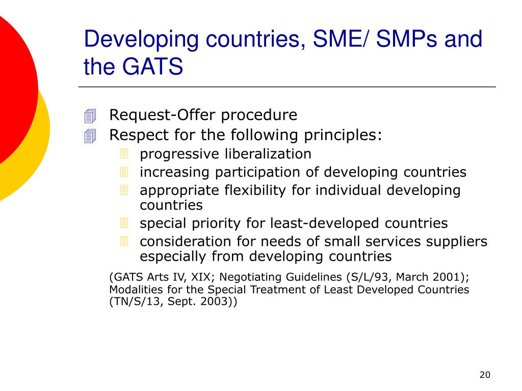 Developing countries, SME/ SMPs and the GATS