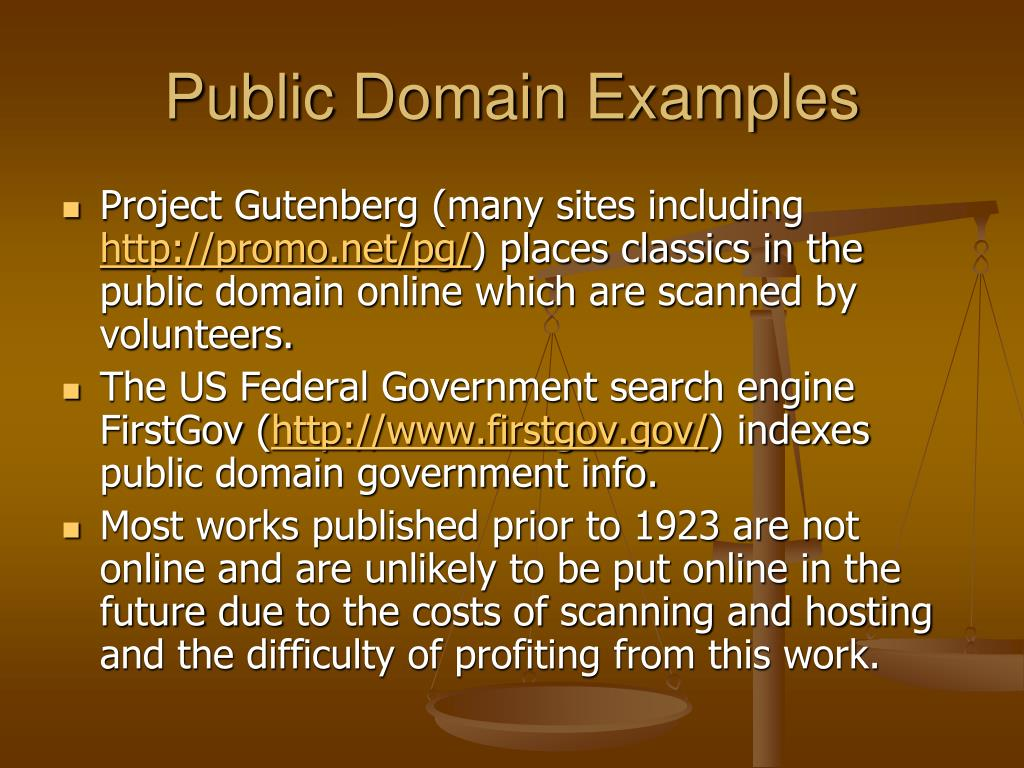 Public Domain Examples