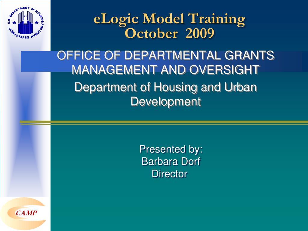 elogic model training october 2009 l.