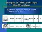 examples of third level elogic model analyses51