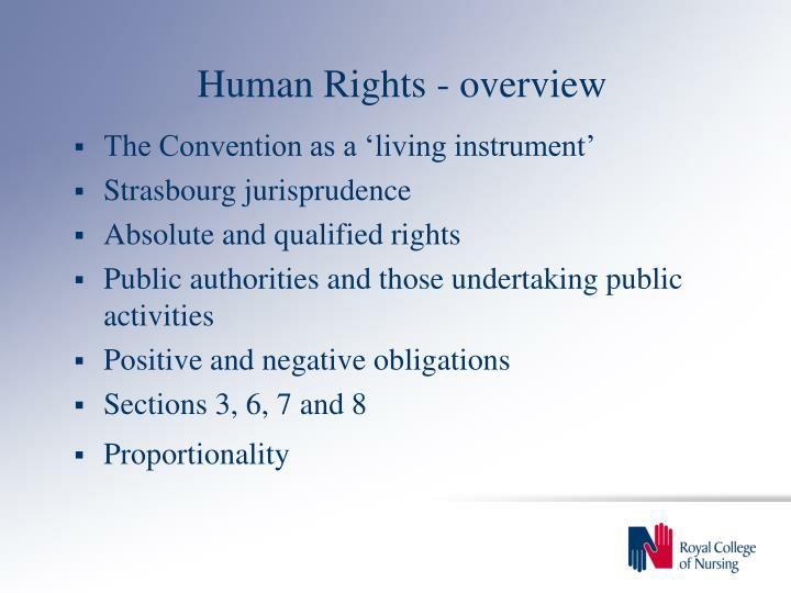 Human rights overview3