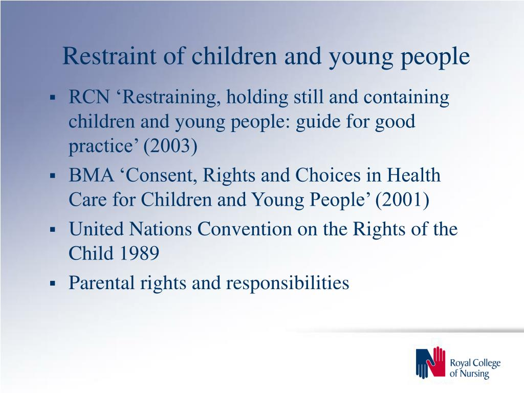 Restraint of children and young people