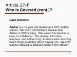 article 27 f who is covered cont91