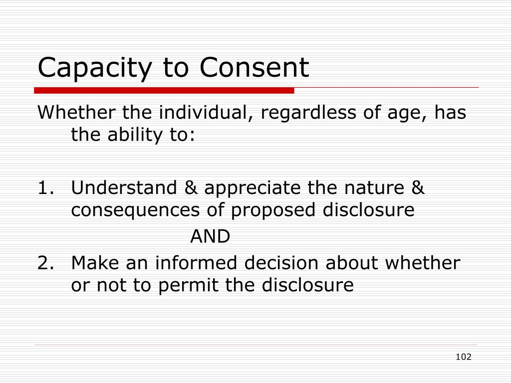 Capacity to Consent