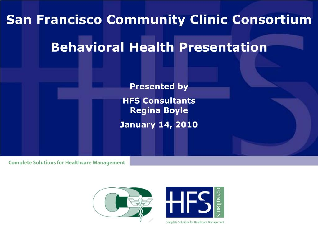 san francisco community clinic consortium behavioral health presentation l.
