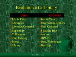 evolution of a library
