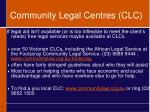 community legal centres clc
