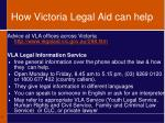 how victoria legal aid can help