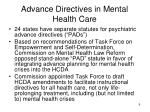 advance directives in mental health care