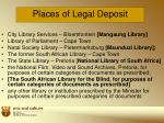 places of legal deposit