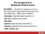 the background of budweiser budvar brand4