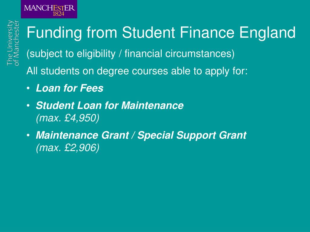Funding from Student Finance England