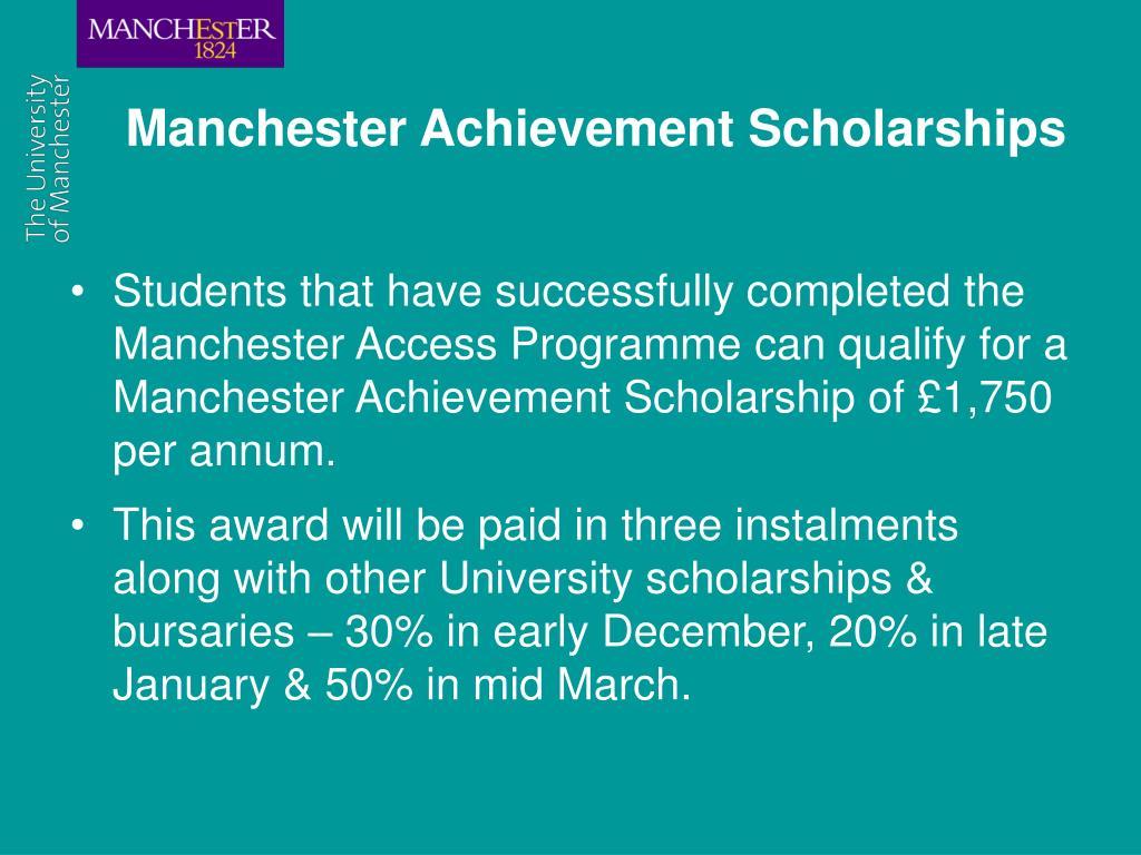 Manchester Achievement Scholarships