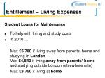 entitlement living expenses
