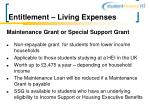 entitlement living expenses10