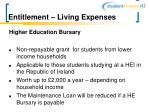 entitlement living expenses11