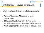 entitlement living expenses12