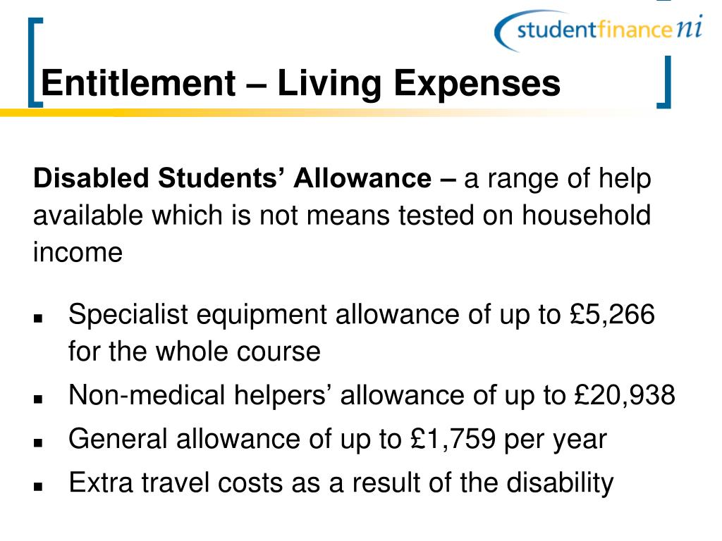 Entitlement – Living Expenses