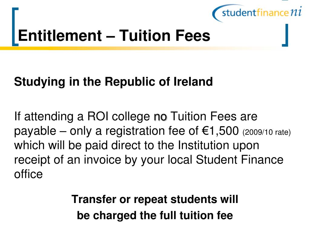 Entitlement – Tuition Fees