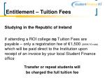 entitlement tuition fees8