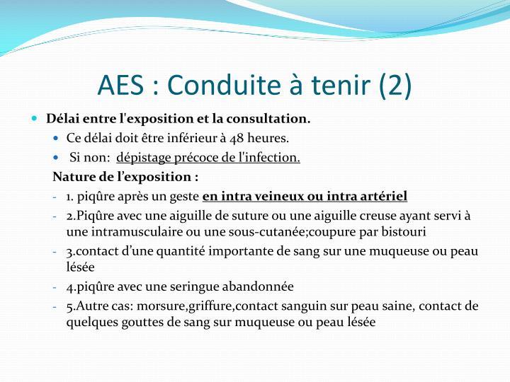AES : Conduite à tenir (2)