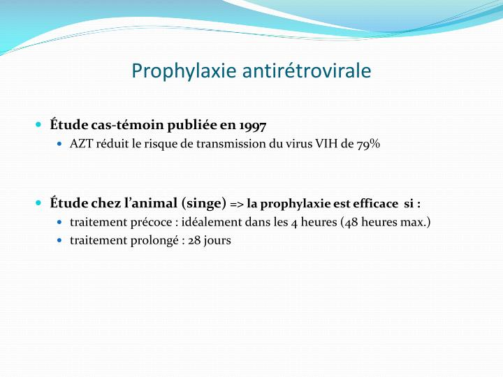 Prophylaxie antirétrovirale