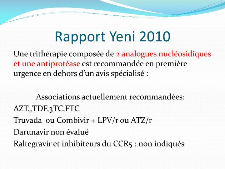 Rapport Yeni 2010