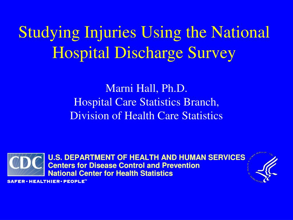 studying injuries using the national hospital discharge survey l.