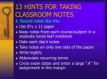 13 hints for taking classroom notes5