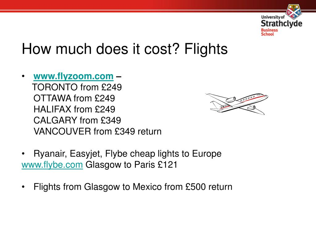 How much does it cost? Flights