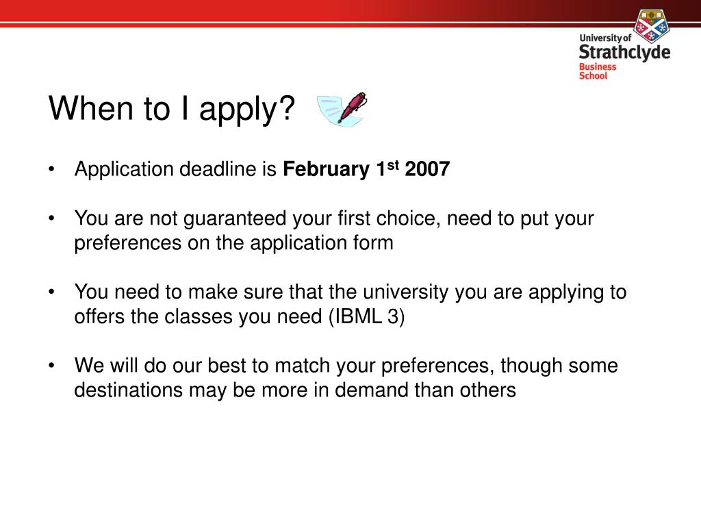 When to I apply?