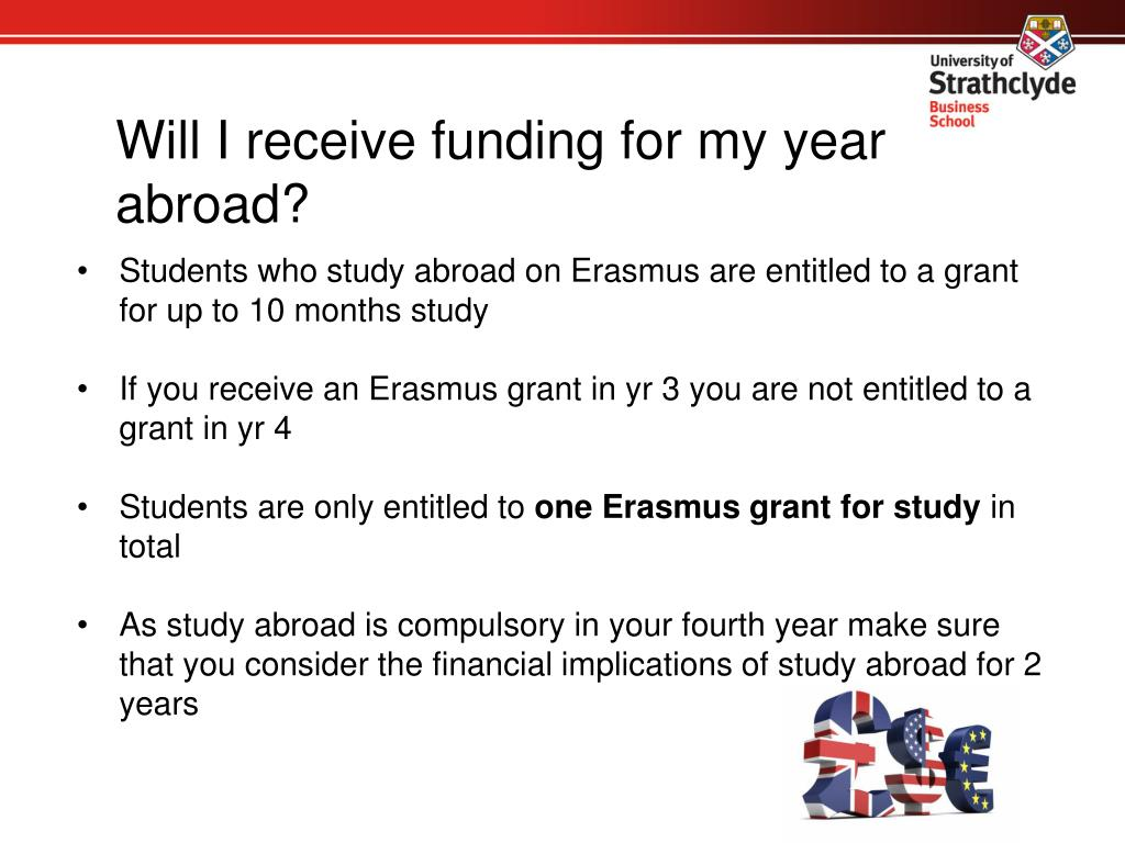 Will I receive funding for my year abroad?