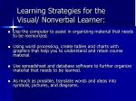 learning strategies for the visual nonverbal learner23