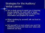 strategies for the auditory verbal learner