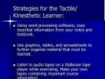 strategies for the tactile kinesthetic learner29