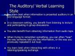 the auditory verbal learning style
