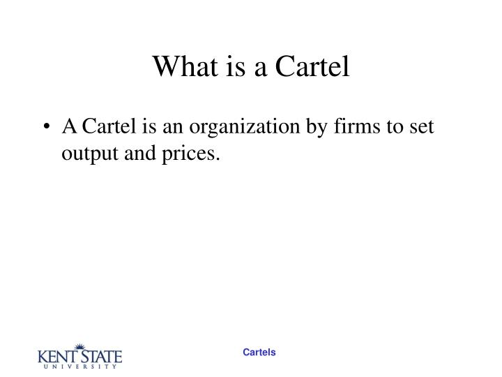 What is a cartel