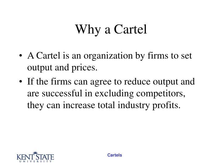 Why a cartel