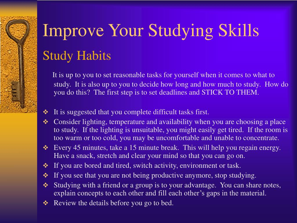 improve your studying skills l.