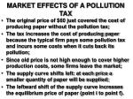 market effects of a pollution tax