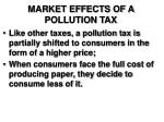 market effects of a pollution tax9