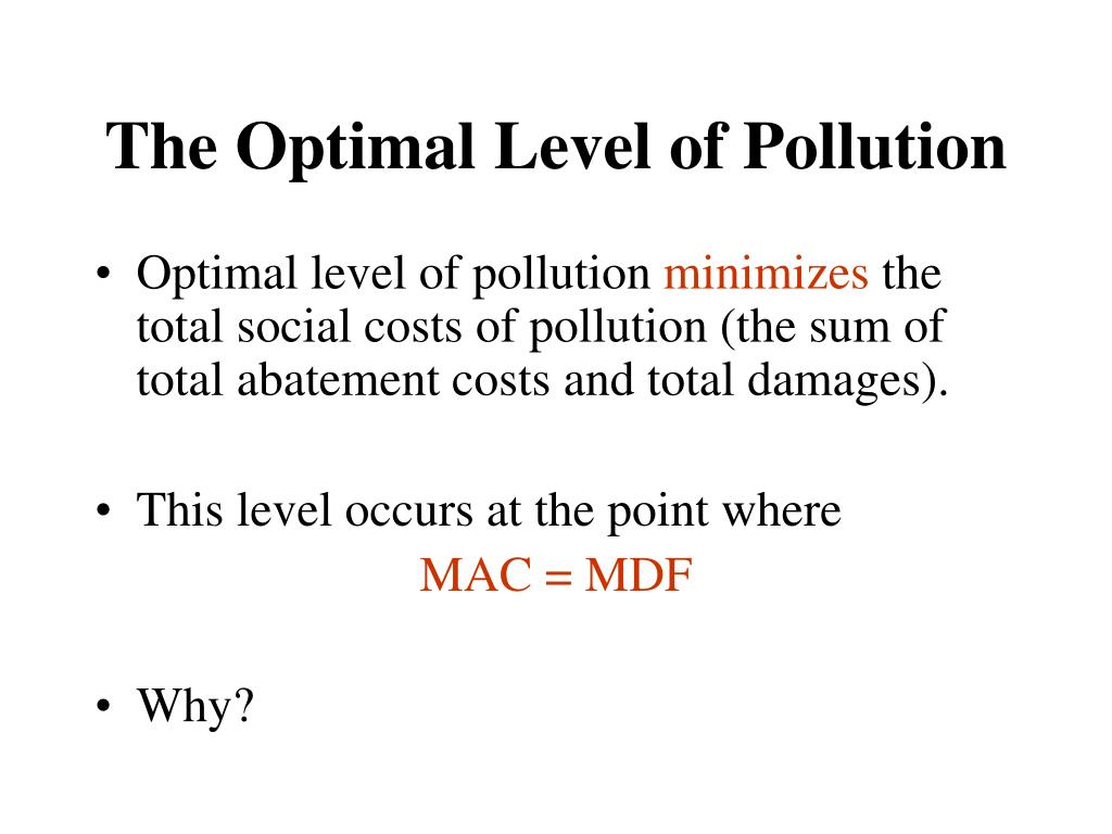 The Optimal Level of Pollution