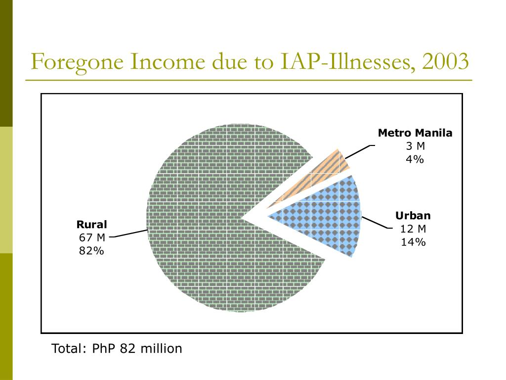 Foregone Income due to IAP-Illnesses, 2003