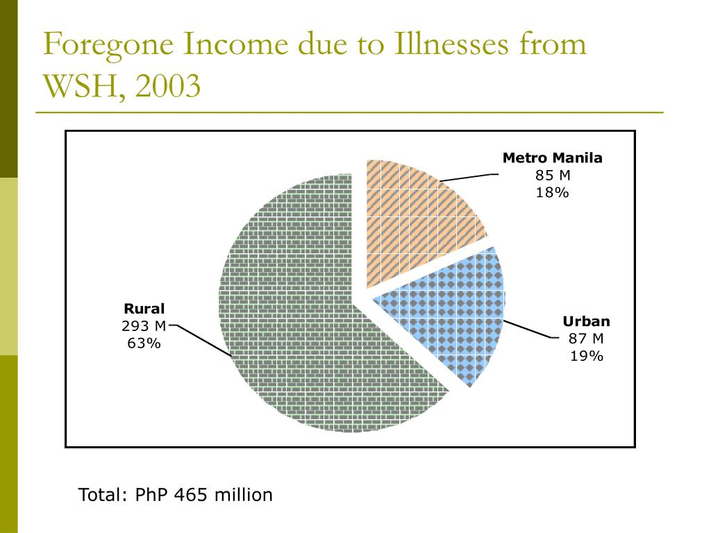 Foregone Income due to Illnesses from WSH, 2003