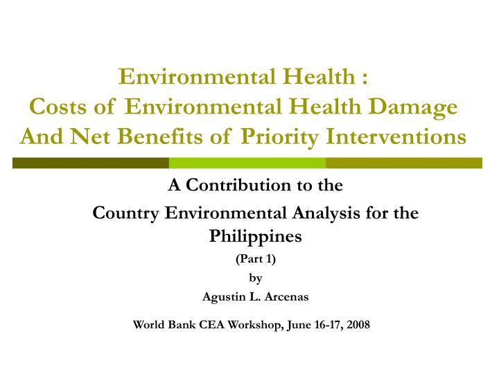 Environmental Health :